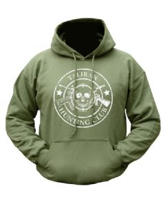 Taliban Hunting Club Military Hoody Green Hooded Fleece Jumper